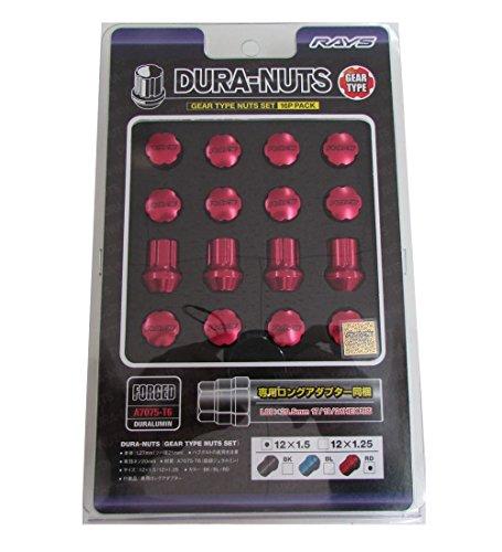 Preisvergleich Produktbild Strahlen Gear Typ Duraluminium Mutter Set kurz M12 x 1, 5 27 mm Rot
