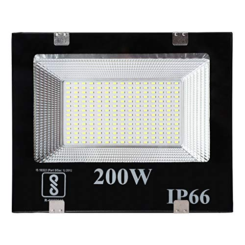 Gesto® 200 Watt Ultra Thin Slim Ip66 LED Flood Outdoor Light Cool White Waterproof- 200W