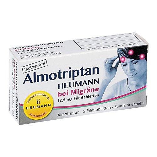 Almotriptan Heumann bei MigrŠne 12,5 mg, 2 St. Filmtabletten