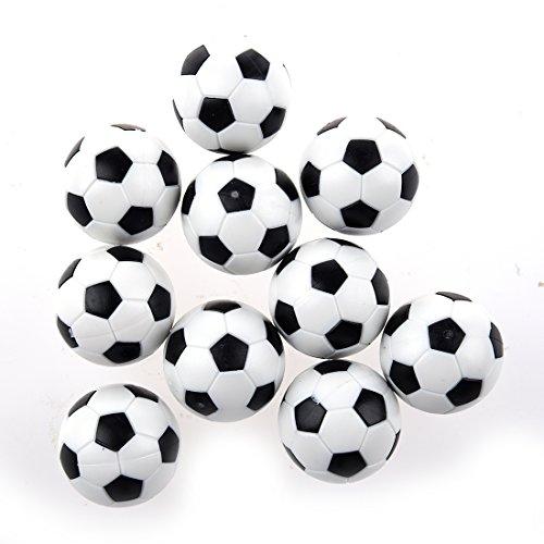 JVSISM 10pcs 32mm Kunststoff Fussball Tabelle Fussball Kugel Fussball