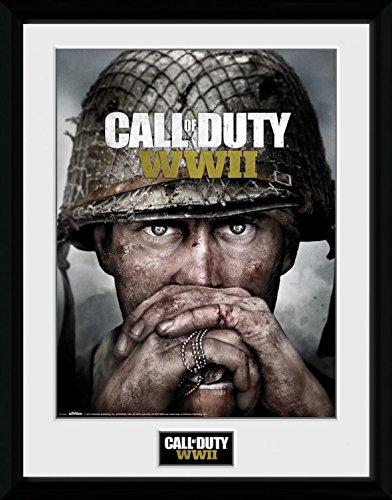Preisvergleich Produktbild 1art1 106735 Call Of Duty - Stronghold, WWII Dogtags Gerahmtes Poster Für Fans Und Sammler 40 x 30 cm