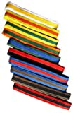 Budogürtel / Kampfsportgürtel weiss-gelb, 220 cm