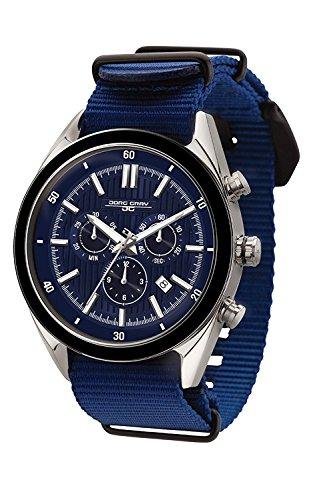 Jorg Gray JG6900–22N para Hombre Reloj cronógrafo Azul Dial Azul Correa de la OTAN