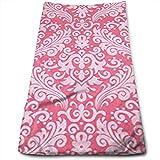 Sangeigt Asciugamano, Sparkle Medium Damask Hot Pink Bath Towels for Bathroom-Hotel-Spa-Kitchen-Set - Circlet Egyptian - Highly Absorbent Hotel Quality Towels
