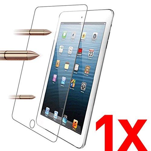 iPad Pro 9.7 1x Kit 4 in 1 - Pellicola Vetro Temperato per Apple iPad Pro 9.7 pollici / Air / Air 2 - 2,5D 9H Protezione Schermo Display + 1 Panno Asciutto + 1 Panno Umido + 1 Adesivo Rimozione Polvere Air