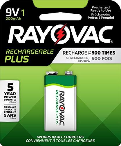 Preisvergleich Produktbild Recharge Plus NiMH Batteries,  9V,  Sold as 1 Package