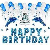 Vaxiuja Deko Geburtstag, Geburtstag Dekoration Set, Deko Geburtstag Geburtstag Party Dekoration Happy Birthday, Zubehör Kinder Geburtstag Set , Happy Birthday Banner für Alle Männer und Frauen