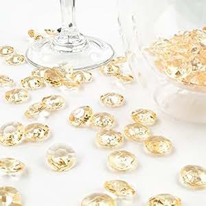 deko diamanten 12 mm gold apricot 100 st ck. Black Bedroom Furniture Sets. Home Design Ideas