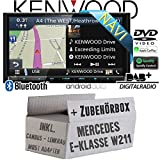 Mercedes E-Klasse W211 Lenkrad Most CanBus - Autoradio Radio Kenwood DNX8180DABS - 2-Din NAVI | DAB+ | Bluetooth | CD/DVD | Apple CarPlay | Einbauzubehör - Einbauset