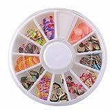 GreatestPAK_Bath Toys SALE! Slime DIY Craft Decorative, Fruit Cake Slices Sprinkles Assorted Pattern Sludge Soft Scented Arts Crafts Supplies, Party Decoration & DIY Wedding (D)