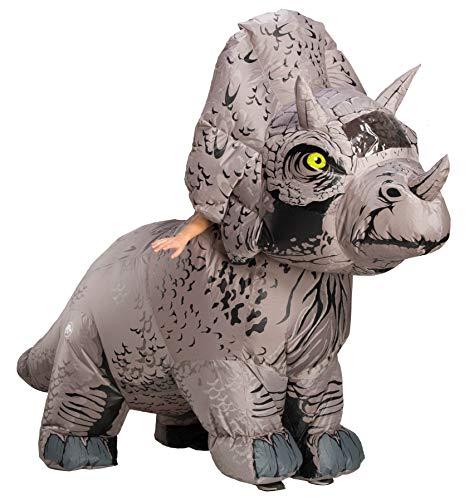 Kostüm Jurassic World - Generique - Triceratops-Kostüm für Erwachsene Jurassic World grau Einheitsgröße