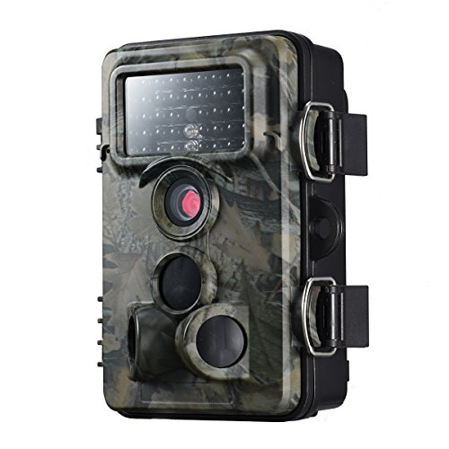 VicTsing Cámara de Caza, Impermeable IP66, 1080P HD, Trail Cámara PIR Infrarrojo Sensor de Movimiento, Visión Nocturna de Caza, Monitor de Salvajes, para Vigilancia