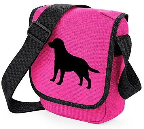 Bag Pixie - Borsa a tracolla unisex adulti Black Lab Pink Bag