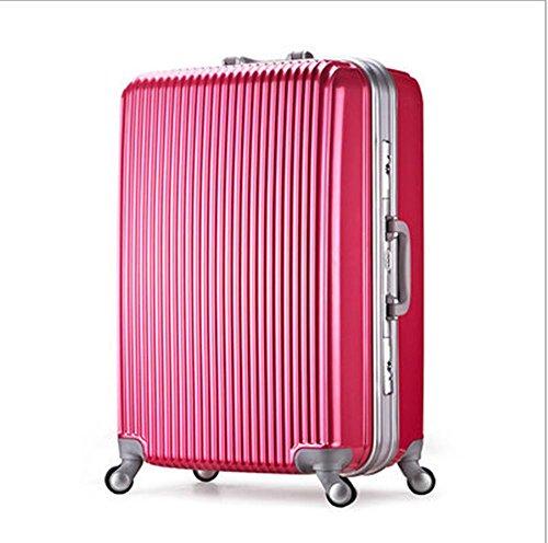 Xiuxiandianju Borsa di PC all'aperto di viaggio bagagli trolley 20/24/28 pollici casella di materiali di diverse dimensioni & SuitcaseColour di spedizione strawberry red
