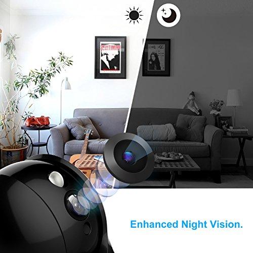 1080P HD Wireless Wlan/Wifi IP Kamera Überwachungskamera 2MP Aoleca Zweiwege-Audio Indoor Kabellose Security IP Cam Home Baby Monitor Mit Bewegungserkennung - 2
