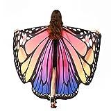 Schmetterling Kostüm, HLHN Damen Schmetterling Flügel Nymphe Pixie Poncho Kostüm Zubehör für Show / Daily / Party (Rosa)