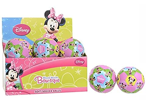 10cm Disney Minnie Mouse Bow-tique Soft Ball - Great For Toddlers 12m + (HL165) - Mouse Bow