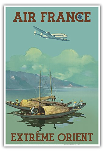 extremo-oriente-air-france-vintage-airline-travel-poster-by-vincent-guerra-c1950s-reproduccion-profe