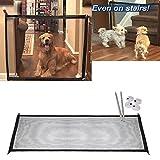 G-hawk Pet Safety Recinzione con Magic Gate in Robusta Maglia Tessuta,Recinzione Portatile Pieghevole per Mantenere Il Vostro Cane in Una Zona