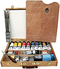 Daler Rowney AOG Cryla Artists' Acrylic Deluxe Wooden Box Set (75Ml)
