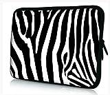 Funky 10,1-10,2 Zoll Tablet Hülle, laptoptasche - zoll Fall Neopren für Notebooks Dell HP Macbook Samsung Apple Toshiba (10 zebra)