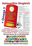 Astaxanthin 4mg - Komplex 100 SoftGel kapseln plus Lycopin Heidelbeer Grüntee egcg Lecithin Carotin Leinöl omega3