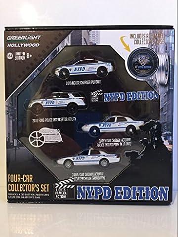 Set lot-de-4 Hollywood Film Reels Series 5, NYPD, 0, voiture miniature, Miniature déjà montée, Greenlight