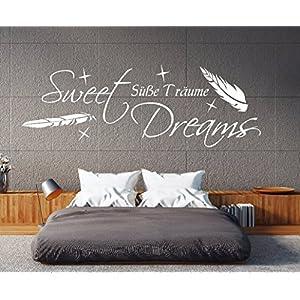 W-pk111 Wandtattoo Schlafzimmer Wandtattoo Sweet Dreams Wandtatoo Spruch süße träume (B58 x H22 cm)