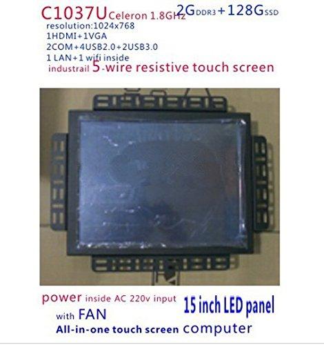 Preisvergleich Produktbild Gowe All in One Touch Bildschirm PC 38,1cm LED Touch Display PC mit 5Draht resistiver Touch Bildschirm Standard und 2G RAM 128G SSD
