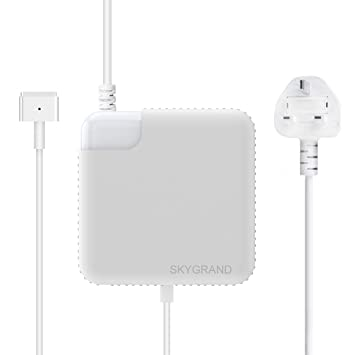 apple 60w magsafe. macbook pro charger, replacement 60w magsafe 2 t-tip connector power adapter for apple with 13-inch retina display - from end 2012 (with uk 60w