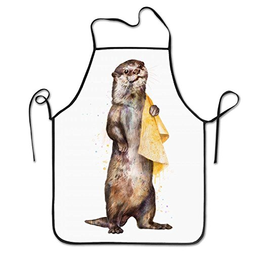 HTETRERW Retro Watercolor Otter Awesome Apron Durable Easy Cleaning Creative Bib for Man and Woman Standar - Denim Womens Kostüm