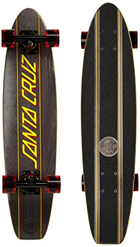 Santa Cruz Classic Strip Black Long Board, indivi Dua lisiert, 6.8 x 28.9 Pulgadas