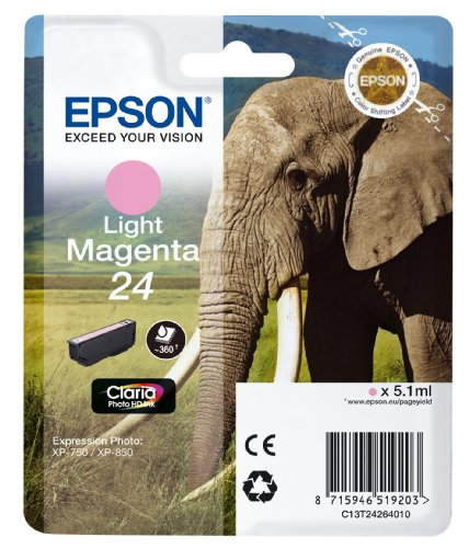 Epson C13T24264012 Cartuccia RS Claria Photo HD 24/Elefante, Magenta