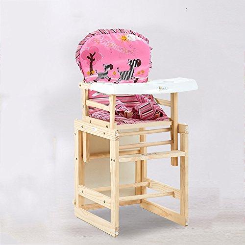 Brisk-- Kinderstuhl Skizzenblock Massivholz Essstuhl Für Babys Multifunktion Teilt Schreiben Baby Essen Essecke ( Farbe : Pink )
