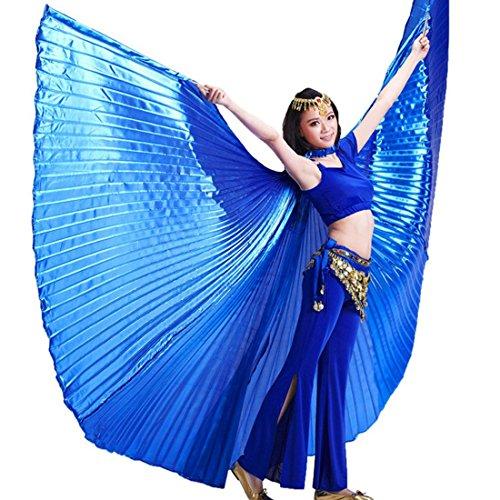 calcifer® Nuevo Egipcio Egipto disfraz de alas de Isis Alas de danza del vientre regalo para gran fiesta Navidad, azul real