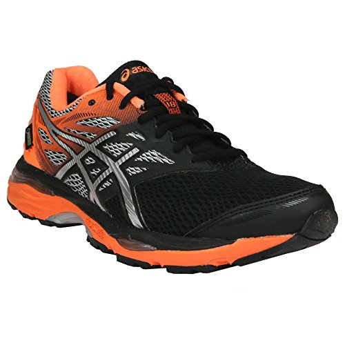 asics-mens-gel-cumulus-18-g-tx-training-shoes-black-black-silver-hot-orange-85-uk
