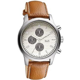 D & G Dolce & Gabbana DW0752–Reloj de pulsera de hombre, correa de piel color marrón