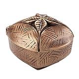 Serafinum Bronze Weihwasserkessel mit Blatt Dekor - Kimani / Braun