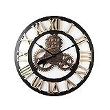 ZXZY Kreative Bar Industrial Style Wohnzimmer Retro Stereo Old Gear Clock (Farbe : Gold, größe : 50 cm)