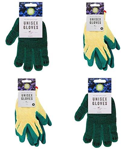 Viel Shop Unisex Garten Handschuhe mit PVC Dots Paket mit Latex getaucht Handschuhe Gartenarbeit