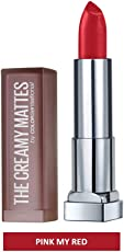 Maybelline New York Color Sensational Creamy Matte, 641 Pink my Red, 3.9g