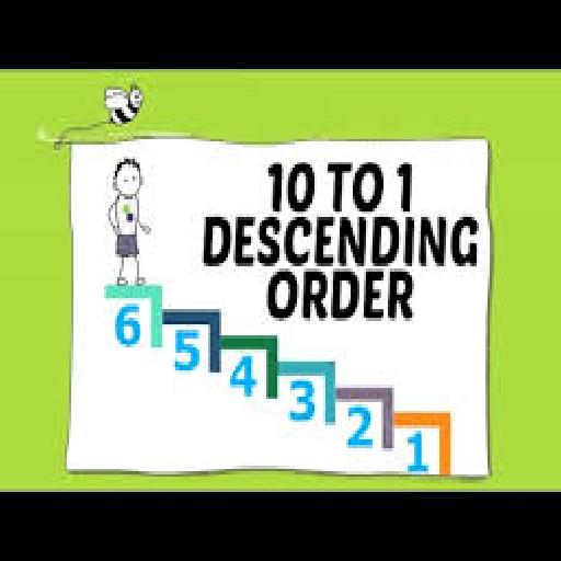 Arrange numbers in descending order grade two CS