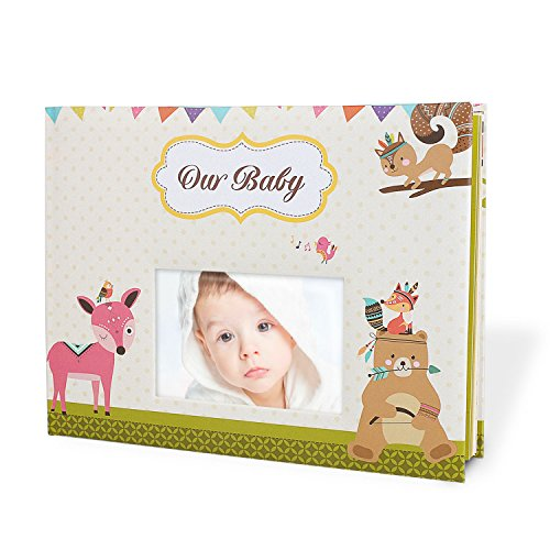 Cobee Fotoalbum Babyalbum Baby Tagebuch Beschriftungsfeld Selbstgestaltung Geschenk für Junge und Mädchen