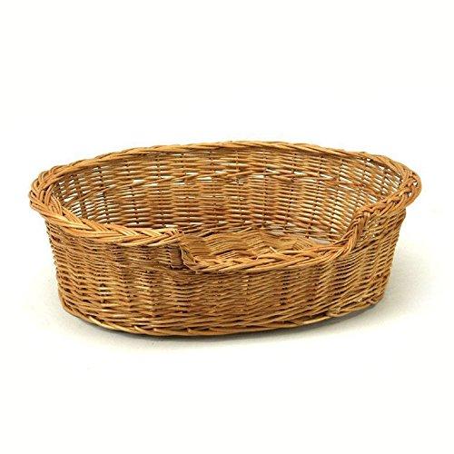 Medium Large Willow Dog Cat Pet Wicker Basket