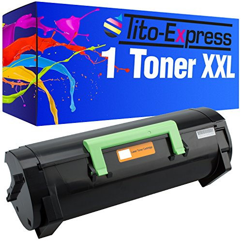 Tito-Express PlatinumSerie 1 Toner XXL kompatibel mit Lexmark MX-310 MX310DN MX410DE MX510DE MX511DE MX511DHE MX511DTE MX611DE MX611DHE MX611DTE | 60F2H00 Black 10.000 Seiten -