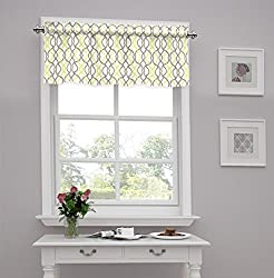 Traditions by Waverly Make Waves Tailored Window Valance, Sterling