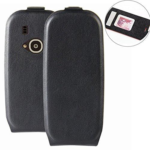 MaxKu Custodia Nokia 3310 2017, Lussuosa PU Cover Custodia Protettiva Portafoglio da Mano per Nokia 3310 2017 Smartphone (Nero)
