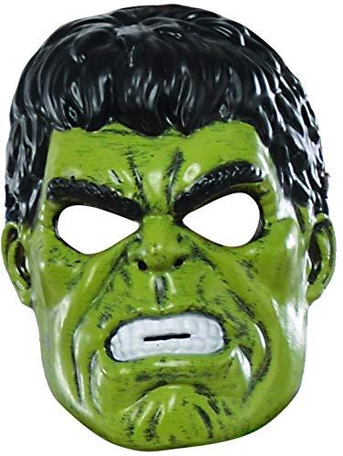 Fancy Ole - Kostüm Accessoires Zubehör Kinder Hulk Maske aus Avengers Assemble, perfekt für Karneval, Fasching und Fastnacht, Grün