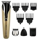 TedGem Rasuradora masculina Set de afeitado multifunción Recortador de barba y precisión 8 en 1, Cortapelos Máquina - Set de afeitado multifunción corporal y facial con recortadora