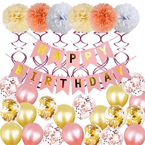 tstag, Chshe, Ballon-Partei-Dekoration Luoem Tag 1 Set D' Geburtstag Folienballons 12-Zoll-Latextuch +